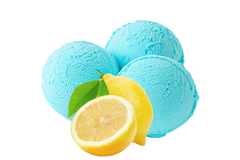 Sorbet au Citron bleu